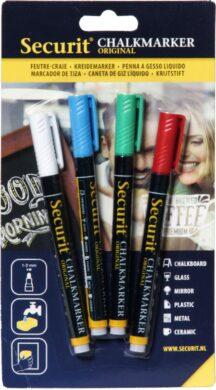Sada 4 tenkých popisovačů 1-2 mm v blisteru, různé barvy(BL-SMA100-V4-COL)