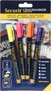 Sada 4 tenkých popisovačů 1-2 mm v blisteru, tropické barvy(BL-SMA100-V4-TRO)