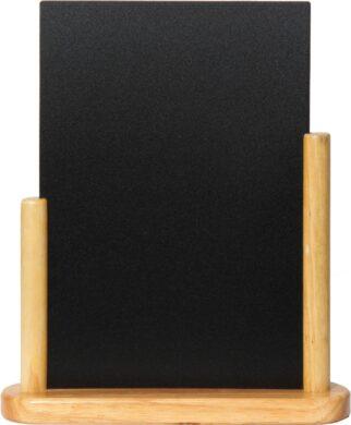 Stolní stojánek s popisovací tabulkou veký, přírodní(ELE-B-LA)