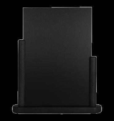 Stolní stojánek s popisovací tabulkou veký, černá(ELE-BL-LA)