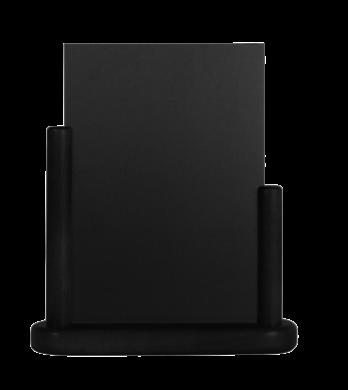 Stolní stojánek s popisovací tabulkou střední, černá(ELE-BL-ME)