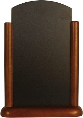 Stolní stojánek s popisovací tabulkou střední, tmavě hnědá(ELE-DB-ME)