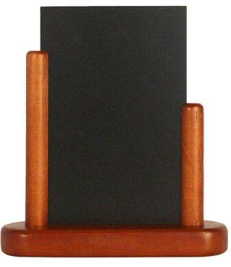 Stolní stojánek s popisovací tabulkou malý, mahagon(ELE-M-SM)
