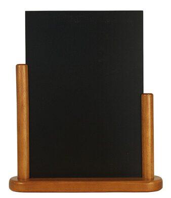 Stolní stojánek s popisovací tabulkou velký, teak(ELE-TE-LA)