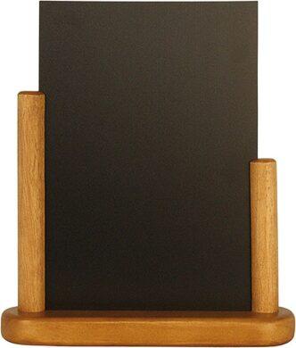 Stolní stojánek s popisovací tabulkou střední,teak(ELE-TE-ME)