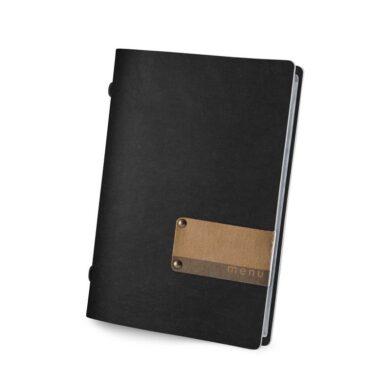 Jídelní lístek DAG Style ECO, formát GOLFO, kožený štítek s potiskem, Black(EMGO4XEP)