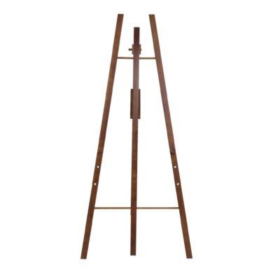 Dřevěný třínohý stojan 165 cm, tmavě hnědý(EZL-DB-165)