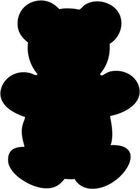 Popisovací tabule MEDVÍDEK s popisovačem a lepící páskou, černá(FB-BEAR)