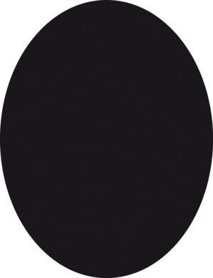 Popisovací tabule OVÁL s popisovačem a lepící páskou, černá(FB-OVAL)