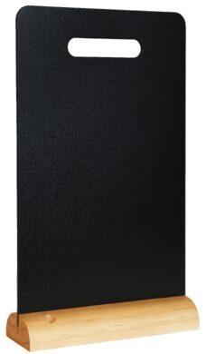Stolní popisovací tabule s dřevěným stojánkem, madlem a 1 popisovačem(FBT-CARRY)