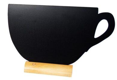 Stolní popisovací tabule ŠÁLEK s popisovačem, dřevěný stojánek(FBT-CUP)