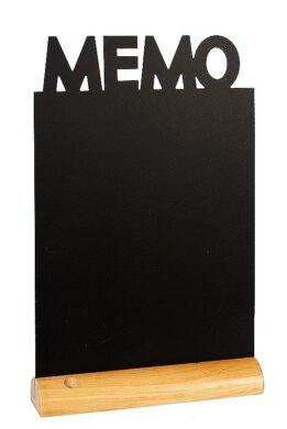 Stolní popisovací tabule MEMO s popisovačem, dřevěný stojánek(FBT-MEMO)