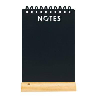 Stolní popisovací tabule s dřevěným stojánkem a 1 popisovačem, NOTES(FBT-NOTES)