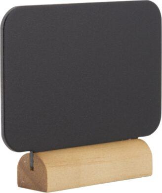 Sada 4 malých stolních tabulek OBDÉLNÍK s popisovačem, dřevěné stojánky(FBT-RECT-4)