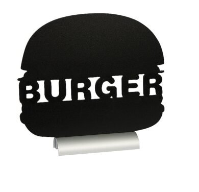 Stolní popisovací tabule BURGER s popisovačem, hliníkový stojánek(FBTA-BURGER)