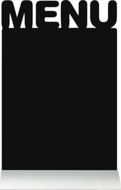 Stolní popisovací tabule MENU s popisovačem, hliníkový stojánek(FBTA-MENU)