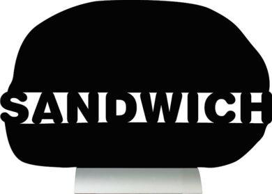 Stolní popisovací tabule SANDWICH s popisovačem, hliníkový stojánek(FBTA-SANDWICH)