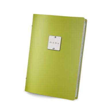 Jídelní lístek DAG Style, formát GOLFO (A5), kovový štítek, Green(FCGO3VM)