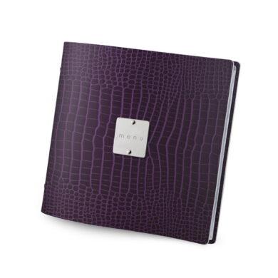 Jídelní lístek DAG Style, formát QUADRATO, kovový štítek, Violet Kroko(FCQU3JM)