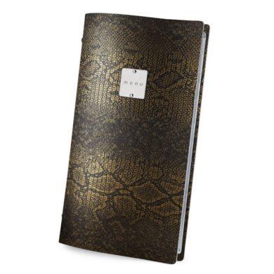 Jídelní lístek DAG Style, formát 4RE, kovový štítek, Gold Brown(GO4R3MM)