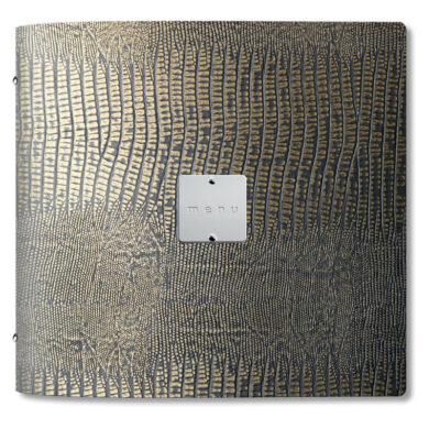 Jídelní lístek DAG Style, formát QUADRATO, kovový štítek, Gold Brown(GOQU3MM)