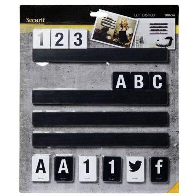 Lišta na vytváření nápisů s písmeny a čísly, 1 m. Černá(LES-BL-100)