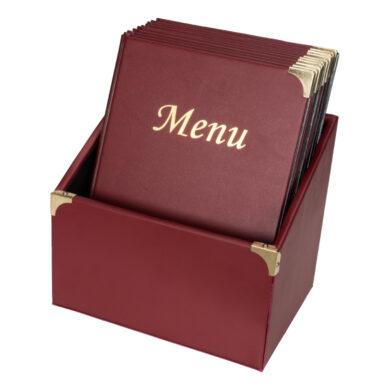 Box s 10 jídelními lístky A4,se 4 vložkami  (celkem 10 stran), nelze přidat dalu(MC-BOX-BRA4-WR)