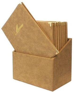 Box s jídelními lístky CLASSIC, béžová (20 ks)(MC-BOX-CRA4-BI)