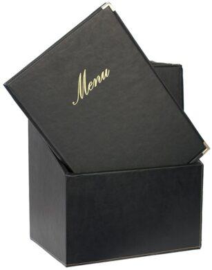 Box s jídelními lístky CLASSIC, černá (20 ks)(MC-BOX-CRA4-BL)