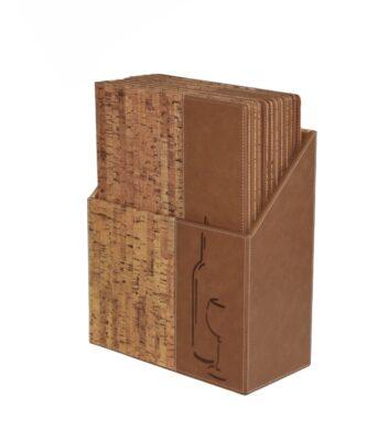 Box s vinnými lístky DESIGN, korek (10 ks)(MC-BOX-DRWC-CORK)