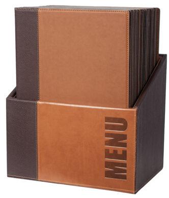 Box s jídelními lístky TRENDY,světle hnědá (20 ks)(MC-BOX-TRA4-LB)