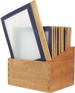 Box s jídelními lístky WOOD, modrá (20 ks)(MC-BOX-WRA4-BU)