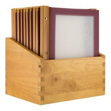 Box s jídelními lístky WOOD, vínová (20 ks)(MC-BOX-WRA4-WR)