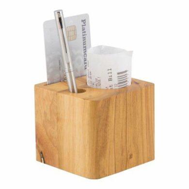 Masivní dřevěná kostka na účtenky(MC-BPBLOCK-TE)