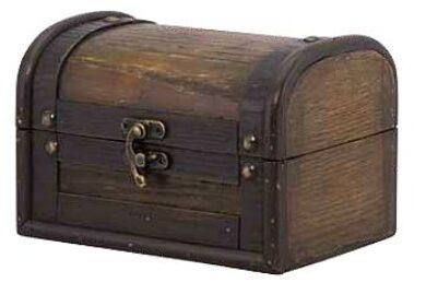 Krabička na účtenky z překližky, imitace truhly s víkem(MC-BPBOX-AN)