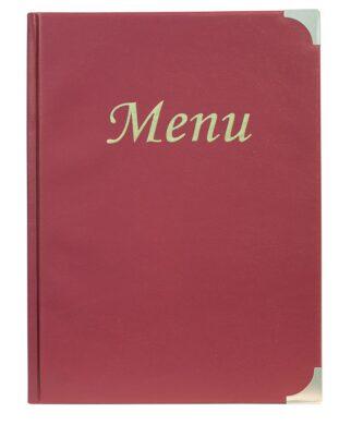 Jídelní lístek BASIC A4, vínově červená(MC-BRA4-WR)