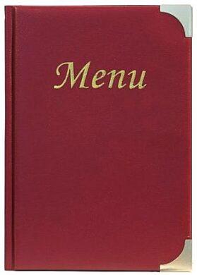 Jídelní lístek BASIC A5, vínově červená(MC-BRA5-WR)