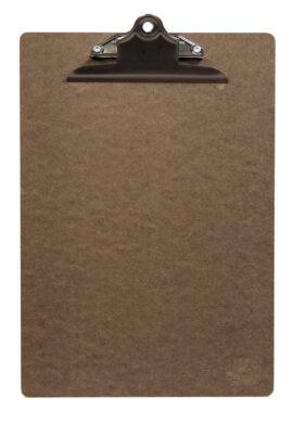 Jednoduchý jídelní lístek A4 se sponou, Brown(MC-CBA4-BR)