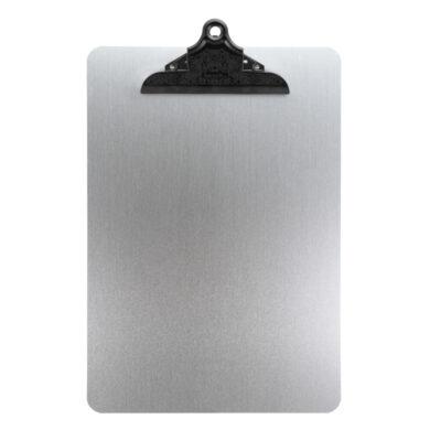 Jednoduchý jídelní lístek A4 pro denní nabídku se sponou, z kovu, barva stříbrná(MC-CBA4-MT)