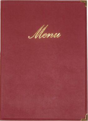 Jídelní lístek CLASSIC A4, vínově červená(MC-CRA4-WR)
