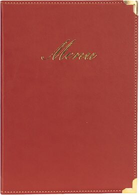 Jídelní lístek CLASSIC A5, vínově červená(MC-CRA5-WR)
