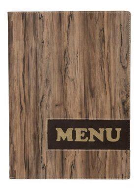Jídelní lístek DESIGN A4, provedení dřevo(MC-DRA4-WOOD)