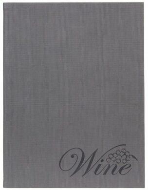 Vinný lístek DESIGN A4, šedý samet(MC-DRWC-VELVET)