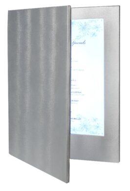 Jídelní lístek LED, osvělený, A4, stříbrná(MC-LDA4-SL)