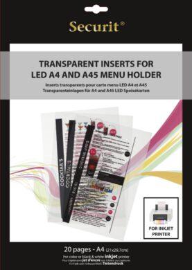 Transparentní vložky k tisku v INKOUSTOVÉ tiskárně (20 ks)(MC-LIA4-IJ)
