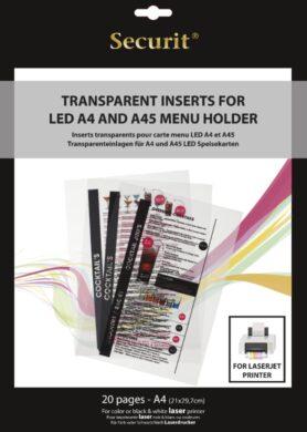 Transparentní vložky k tisku v LASEROVÉ tiskárně (20 ks)(MC-LIA4-LJ)