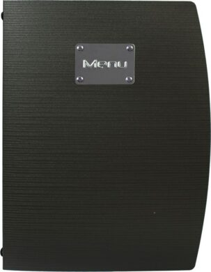 Jídelní lístek RIO A4, černá(MC-RCA4-BL)