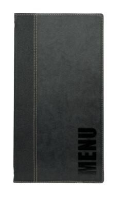 Jídelní lístek TRENDY vysoký, černá(MC-TR45-BL)
