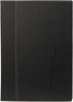 Vinný lístek TRENDY A4, černá(MC-TRWC-BL)