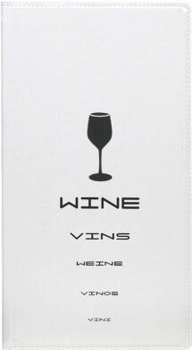 Vinný lístek TRENDY vysoký, bílá(MC-TRWC-WT)